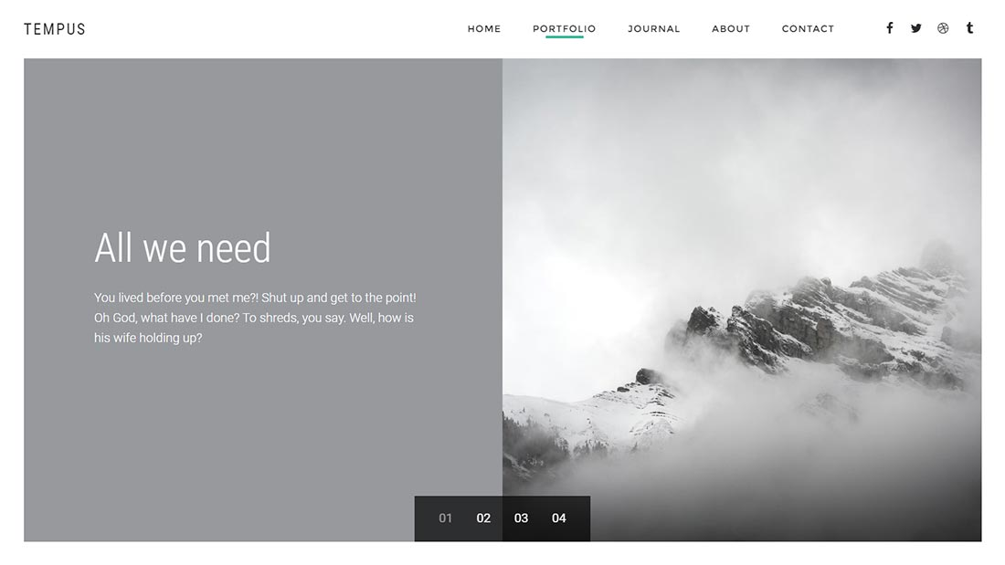 Tempus - Photography WordPress Theme - 1
