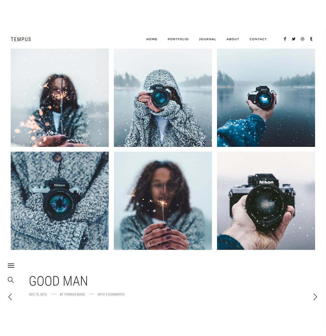 Tempus - Photography WordPress Theme - 2